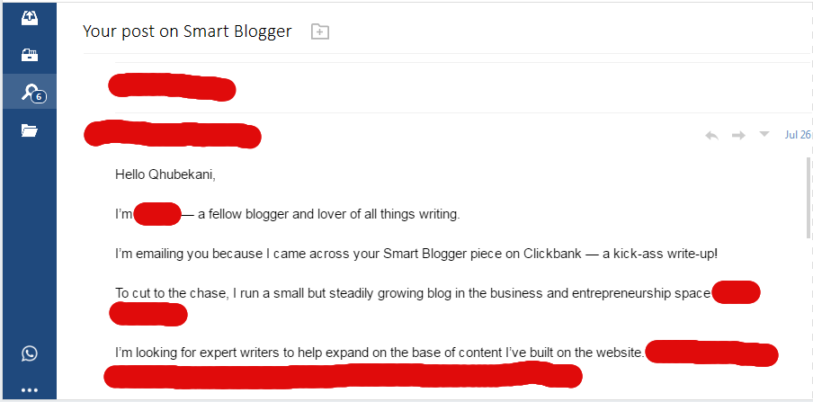 email complimenting engaging seo content