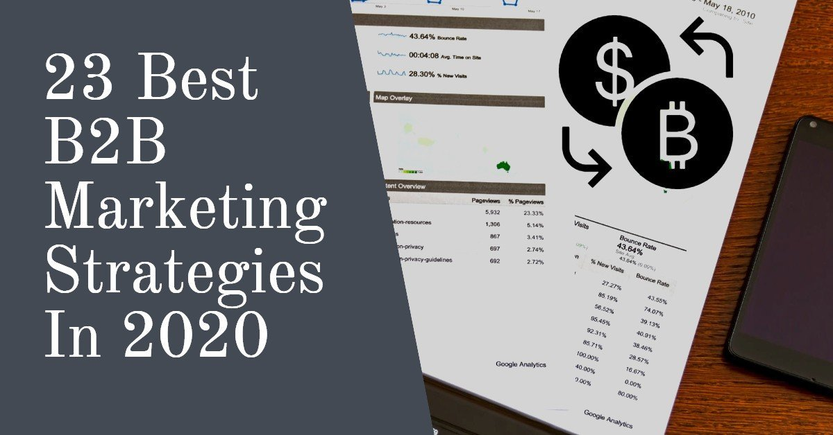 best B2B marketing strategies 2020