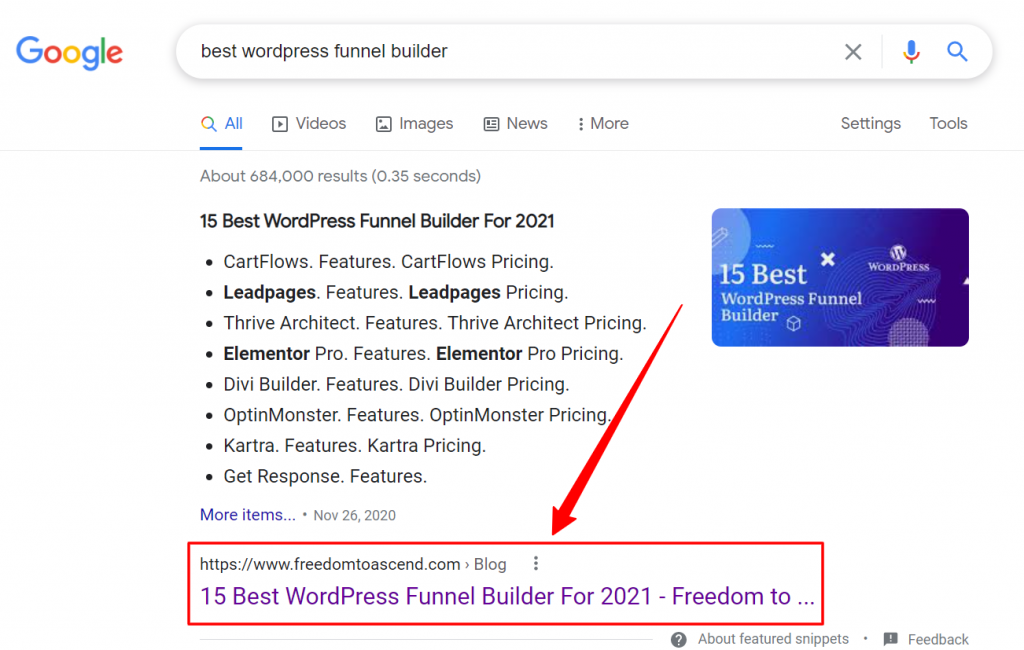ranking-example-from-top-freelance-content-writer